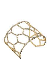 Alexis Bittar - Crystal Encrusted Honeycomb Cuff w/ Spike Accent Bracelet