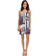 Karen Kane - Patchwork Print T-Back Dress