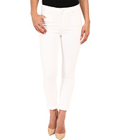 Paige - Hoxton Crop Roll Up in Optic White