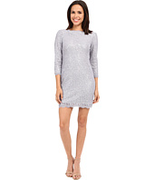 Adrianna Papell - Lace Sequin Shift Dress