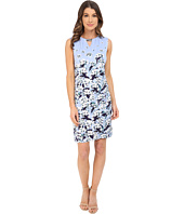 Adrianna Papell - Print Scoop Neck Embellished Dress