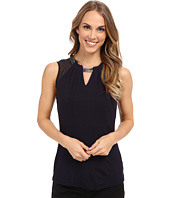 Adrianna Papell - Scoop Neck Embroidery Neck Tank Top