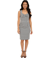 Adrianna Papell - Gingham Jacquard Dress