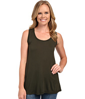 Allen Allen - Hi-Low Tank Top w/ Rib Trim