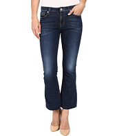 Hudson - Mia Five-Pocket Mid-Rise Flare Crop with Raw Hem in Battalion