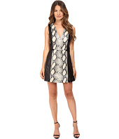 Just Cavalli - Leather Panel Dress w/ Printed Python