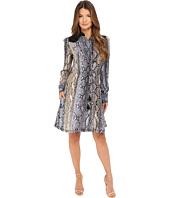 Just Cavalli - Python Cortex Print Long Sleeve Skirt Dress