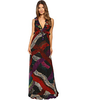 Just Cavalli - Long Cross Naif Print Ruffle Gown