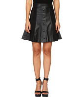 Just Cavalli - Suede/Leather Panel Snap Front Skirt