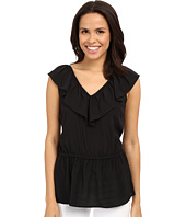MICHAEL Michael Kors - V-Neck Ruffle Top