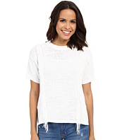 MICHAEL Michael Kors - Fringe Short Sleeve Crew Sweater