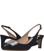 Salvatore Ferragamo - Suede Slingback Low Heel With Watersnake Bow