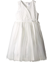 Us Angels - Satin & Point d' Espirit Sleeveless Pleated Bodice & Full Skirt (Big Kids)