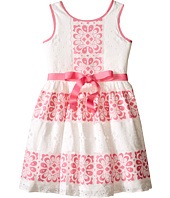 Us Angels - Sleeveless Lace Dress w/ Cut Out Back & Skirt (Big Kids)
