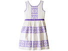 Sleeveless Lace Dress w/ Cut Out Back & Skirt (Big Kids)