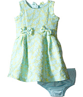 Us Angels - Brocade Sleeveless Dress w/ Bow Trim & Back Cut Out (Infant)
