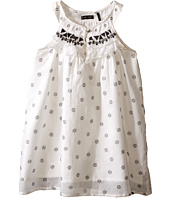 IKKS - Sleeveless Cotton Dress with Small Tribal Print & Embroidery Detail at Neckline (Toddler/Little Kids/Big Kids)