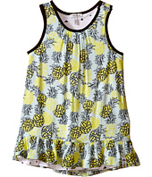 IKKS - Reversible Dress in Abstract Pineapple Print Reversing to Jersey Triangle Print (Infant/Toddler)