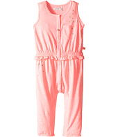 IKKS - Jersey Jumpsuit with Metallic Polka Dots & Button Up Front Snaps Up (Infant)