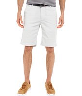 U.S. POLO ASSN. - Horizontal Stripe Flat Front Belted Shorts