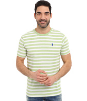 U.S. POLO ASSN. - Short Sleeve Mélange Stripe Crew Neck T-Shirt
