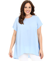 Vince Camuto Specialty Size - Plus Size Short Sleeve High-Low Hem Blouse