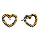 Rope Hearts Studs Earrings