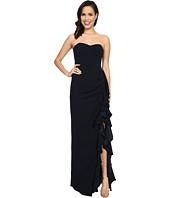 Badgley Mischka - Side Slit Ruffle Dress