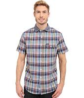 U.S. POLO ASSN. - Short Sleeve Plaid Poplin Spread Collar Sport Shirt