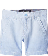 Tommy Hilfiger Kids - Dip Dye Railroad Stripe Flat Front Shorts (Big Kids)