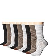 Ecco Socks - Stripe Crew Socks - 9 pack