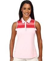 adidas Golf - Melange Stripe Sleeveless Polo