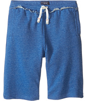 Toobydoo - Heather Blue Camp Shorts w/ White Tie (Infant/Toddler/Little Kids/Big Kids)