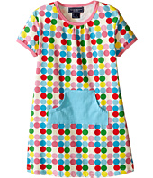 Toobydoo - Short Sleeve Dot Pocket Dress w/ Blue Pocket (Infant/Toddler)