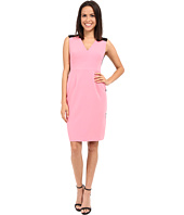 Ellen Tracy - Color Blocked Seamed Sheath Dress