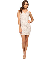 Aidan Mattox - V-Neck Lace Cocktail Dress