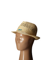 San Diego Hat Company Kids - Paper Fedora Hat with Open Weave and Turquoise Trim (Little Kids/Big Kids)