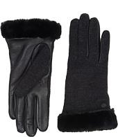 UGG - Shorty Smart Fabric Gloves w/ Short Pile Trim