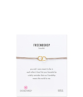 Dogeared - Friendship Double Linked Rings Silk Bracelet