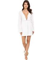 Gypsy05 - Long Sleeve Deep V Mini Dress