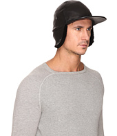 UGG - Leather Baseball Hat w/ Sheepskin Trim