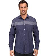 Thomas Dean & Co. - Blue Stripe Tailored Fit Button Down Sport Shirt