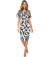 Nicole Miller - Hummingbird Printed Natalia Off-Shoulder Dress
