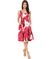 Donna Morgan - Sleeveless Cotton Sateen Scoop Neck Tea Length with Full Skirt
