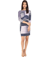 Donna Morgan - 3/4 Sleeve Knot Front Jersey Shift