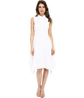 Donna Morgan - Sleeveless Collared Eyelet Shirtdress with Asymmetrical Hem