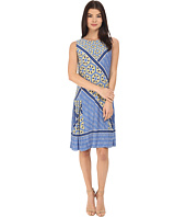 Donna Morgan - Sleeveless Printed Jersey with Pleated Skirt