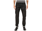 Tapered Jeans in Black Selvedge