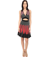 M Missoni - Petal Intarsia Open Back Dress