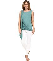 Miraclebody Jeans - Gigi Side Drape Blouse w/ Body-Shaping Inner Shell